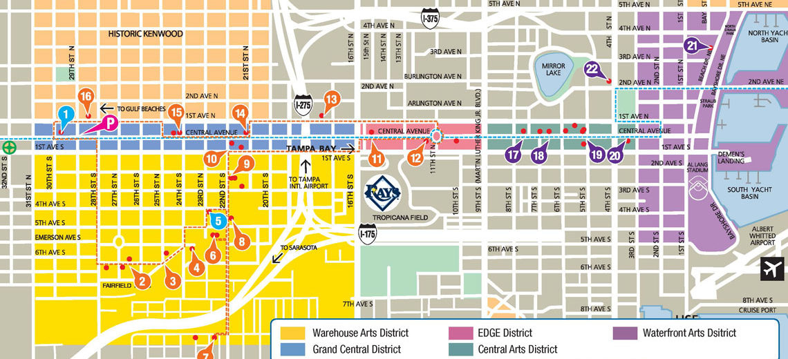 ArtWalk St Pete Map Florida CraftArt