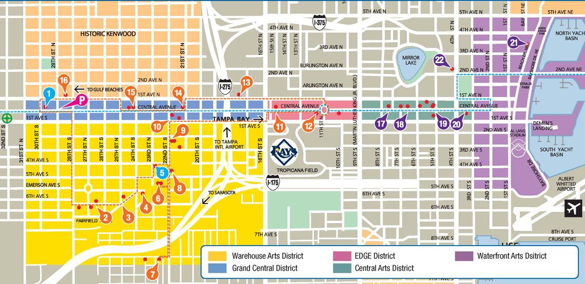 ArtWalk St Pete Map Florida CraftArt
