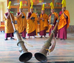 Tibetan monks with horns Florida CraftArt st petersburg