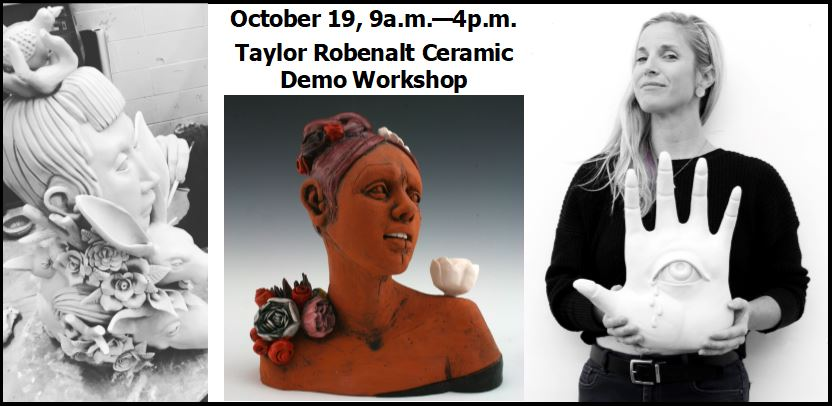 Ceramic demo and workshop with Taylor Robenalt